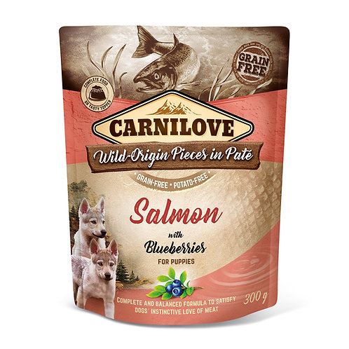 Carnilove Puppy Pouch Salmon with Blueberries 300g