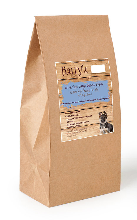 Harry's Grain Free Large Breed Puppy Salmon with Sweet Potato & Vegetables 6kg