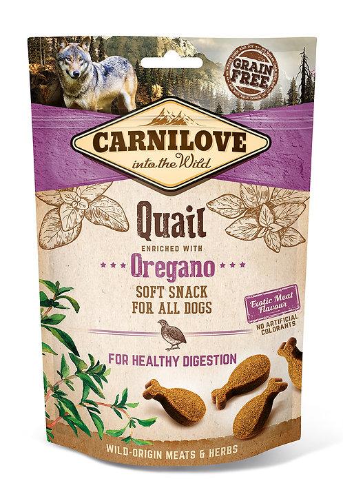Carnilove Semi-Moist Dog Treats Quail with Oregano 200g