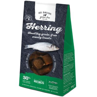 Go Native Dog Treats Herring 100g