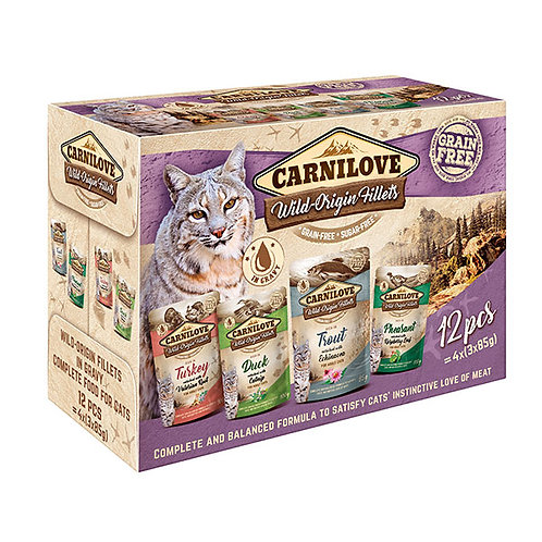 Carnilove Cat Pouch Multipack 12 x 85g