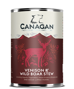 CANAGAN WET DOG FOOD VENISON & BOAR STEW 400G x 6
