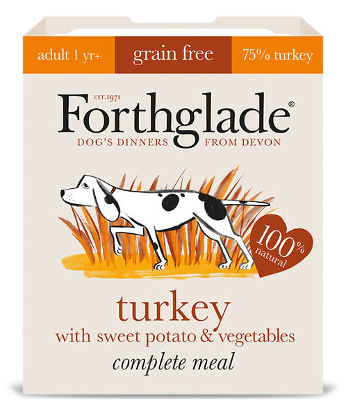FORTHGLADE GRAIN FREE ADULT TURKEY WITH SWEET POTATO & VEG 395G x 18