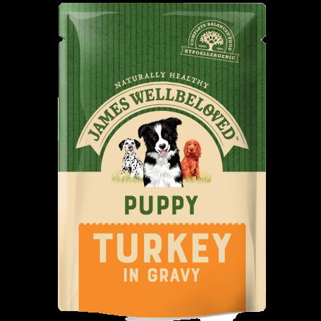 James Wellbeloved Puppy/Junior Pouch Turkey 150g