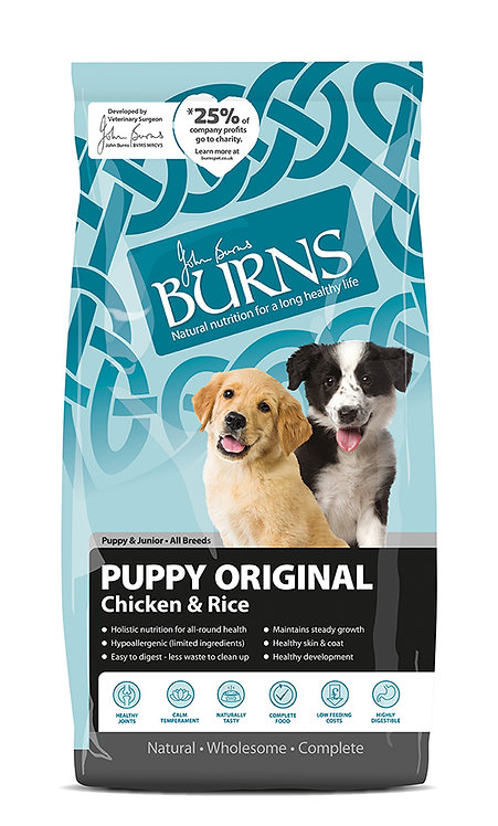 Burns Puppy Original Chicken Dog Food 12kg