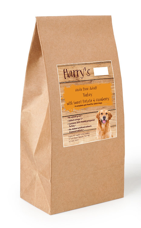 Harry's Grain Free Dog Food Turkey with Sweet Potato & Cranberry 2kg