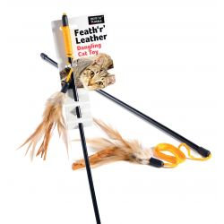 Ruff 'N' Tumble Feath 'R' Leather Cat Dangler