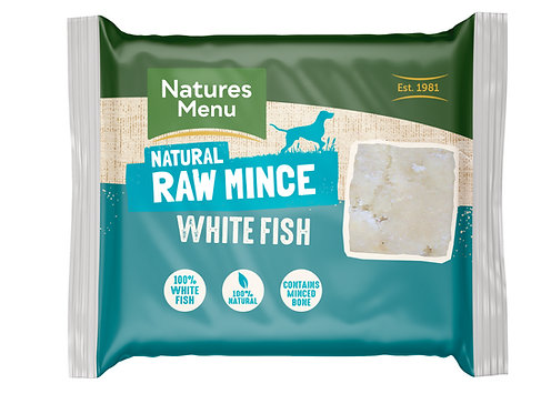 Natures Menu Frozen Minced White Fish 12 x 400g