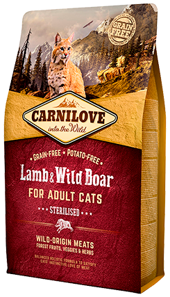 Carnilove Lamb & Wild Boar for Adult Cats 6kg