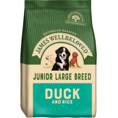 James Wellbeloved Large Breed Duck & Rice Junior 4kg
