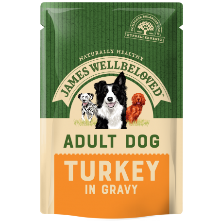 James Wellbeloved Adult Pouch Turkey 150g