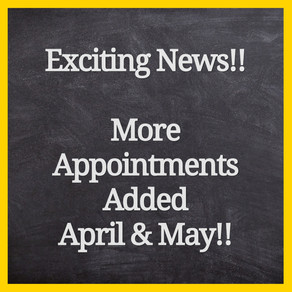💛Exciting News!! Extra Appointments Available!!💛