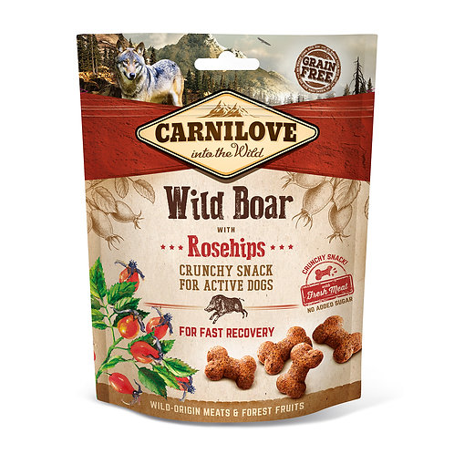 Carnilove Crunchy Dog Treats Wild Boar with Rosehips 200g