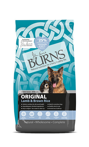 Burns Original with Lamb Adult Dog Food 2kg