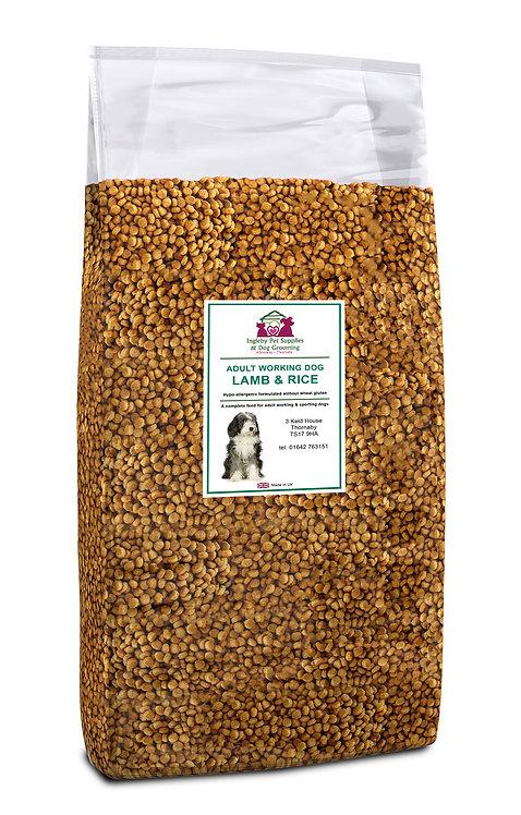 Ingleby Pet Supplies Super Premium Adult Dog Food Lamb & Rice 15kg