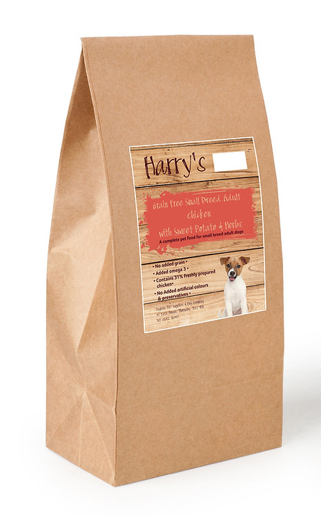 Harry's Grain Free Dog Food Small Breed Chicken with Sweet Potato & Herbs 2kg
