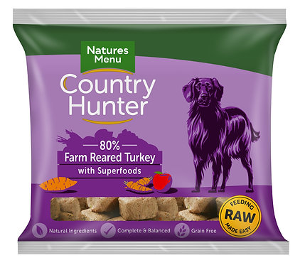 Country Hunter Raw Nuggets Farm Reared Turkey 1kg