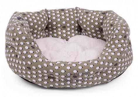Sleepy Sheep Oval Dog Bed