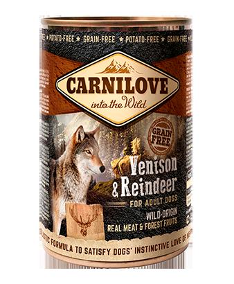 Carnilove Venison & Reindeer Wet Dog Food 400g x 6