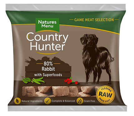 Country Hunter Raw Nuggets Rabbit Superfoods 1kg