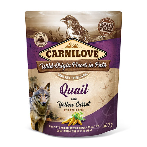 Carnilove Dog Pouch Quail with Yellow Carrot 300g