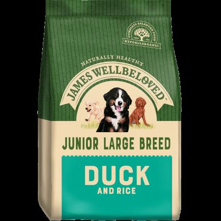 James Wellbeloved Large Breed Duck & Rice Junior 15kg