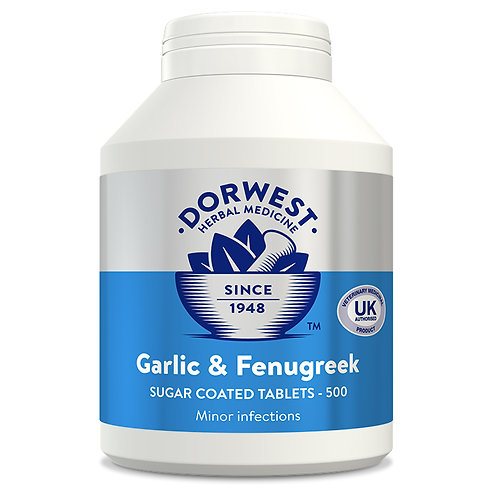Dorwest Garlic & Fenugreek for Dogs & Cats 500 Tablets