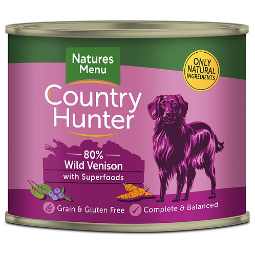 Country Wild Venison Dog Food  6 x 600g