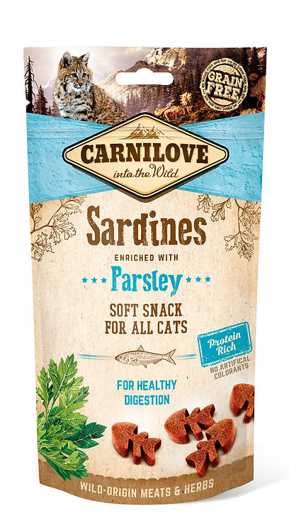 Carnilove Semi-Moist Cat Treats Sardines with Parsley 50g