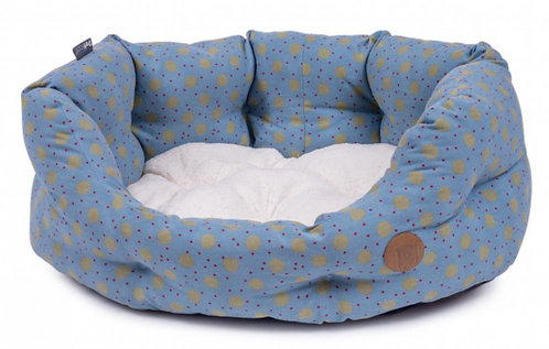 Marine Spot Oval Dog Bed