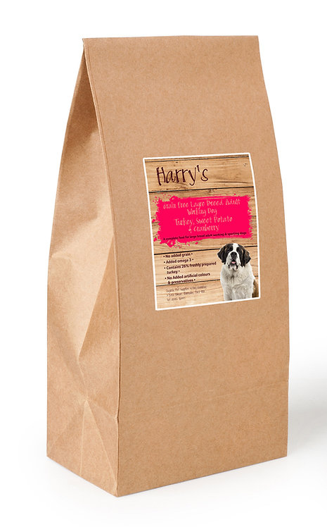 Harry's Grain Free Large Breed Dog Food Turkey with Sweet Potato & Cranberry 15kg