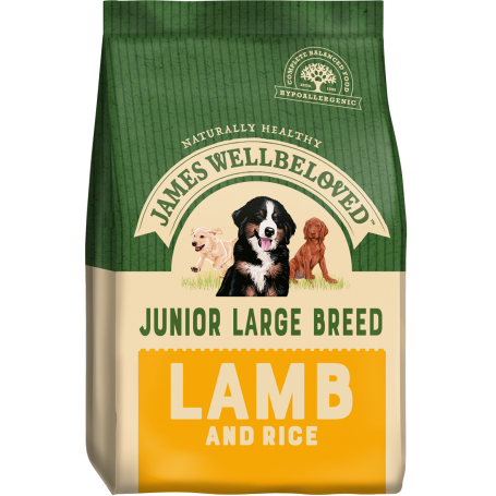 James Wellbeloved Large Breed Lamb & Rice Junior 15kg