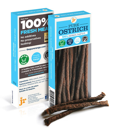 Pure Ostrich Treats 50g