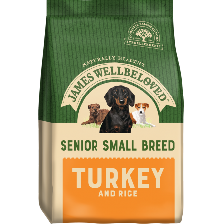 James Wellbeloved Small Breed Turkey & Rice Senior 7.5kg