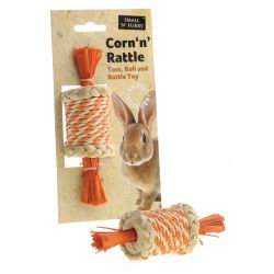 Small 'N' Furry Natural Corn 'N' Rattle