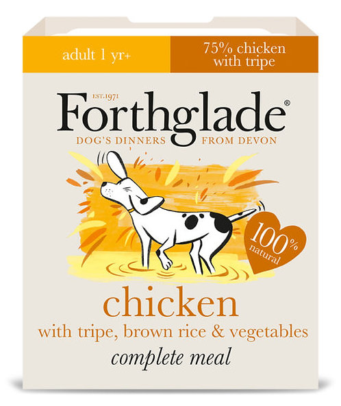 FORTHGLADE CHICKEN AND TRIPE WITH BROWN RICE 395G x 18