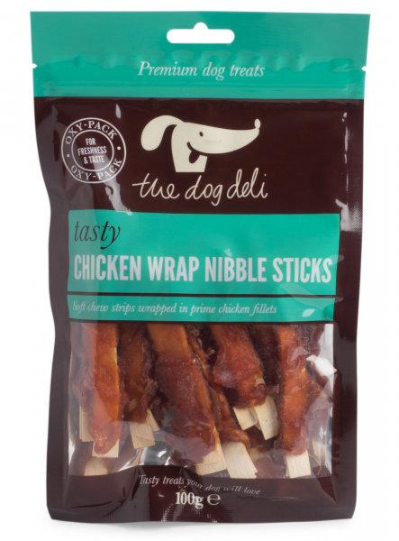Dog Deli Chicken Wrap Nibble Sticks 100g