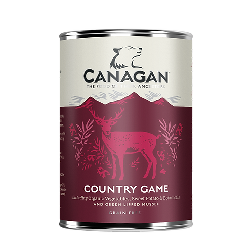 Canagan Wet Dog Food Country Game 400g x 6