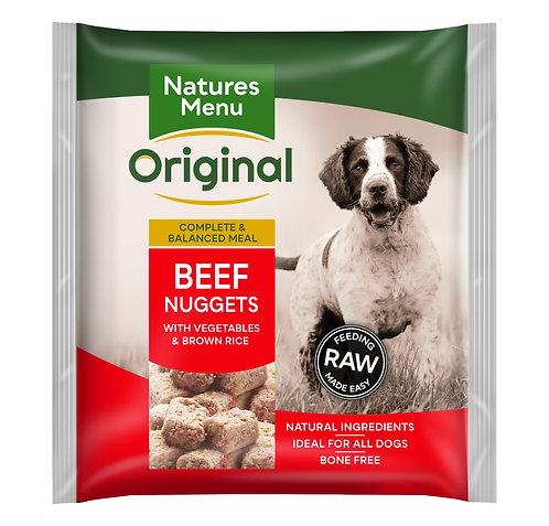 Natures Menu Raw Nuggets Beef 1kg