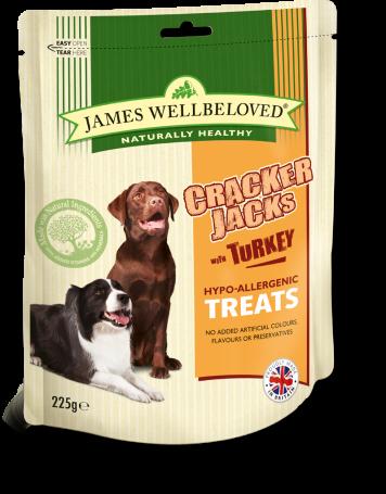 James Wellbeloved Crackerjacks Turkey Med 225g