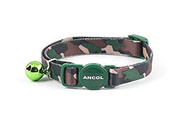 Cat Collar Camouflage Green