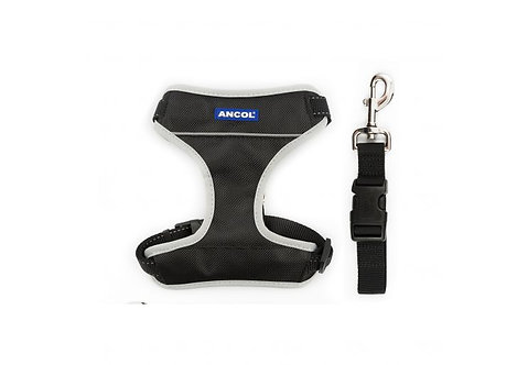 Ancol Dog Travel Harness Black