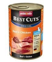 Animonda Junior Dog Best Cuts Tin Beef & Chicken 6 x 400g