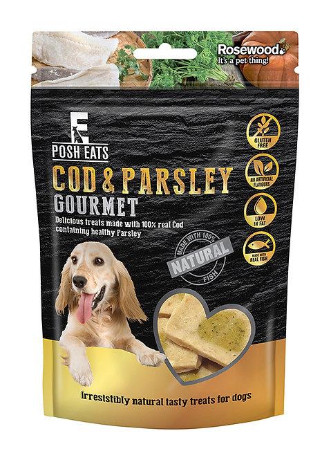 Posh Eats Cod & Parsley Gourmet Dog Treats 80g