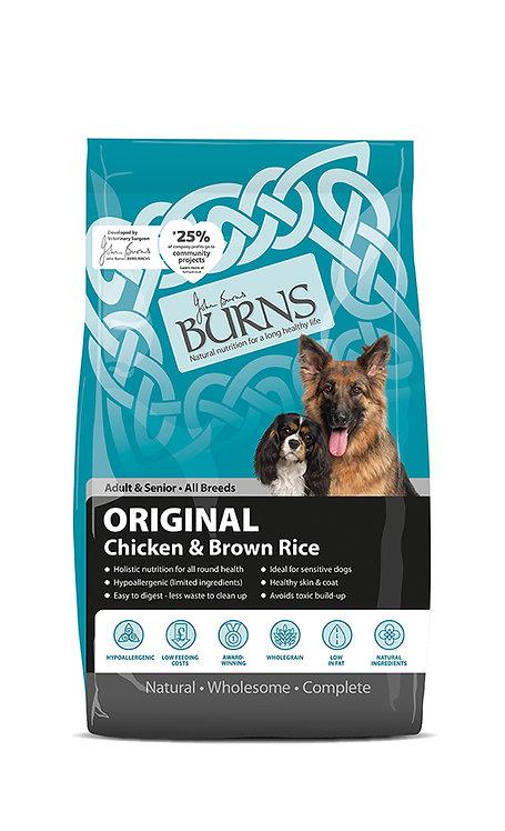 Burns Original with Chicken Adult/Senior Dog Food 6kg
