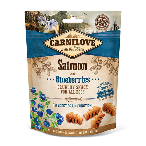 Carnilove Crunchy Dog Treats Salmon with Blueberry 200g
