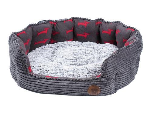 Dog Deli Jumbo Cord Oval Dog Bed