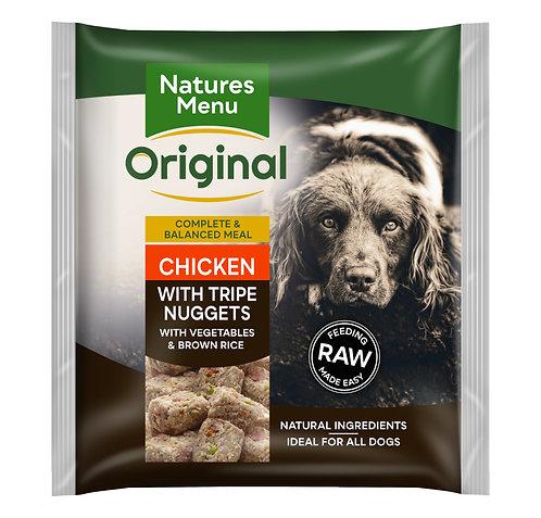 Natures Menu Raw Nugget Tripe & Chicken 1kg