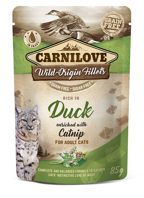 Carnilove Cat Pouch Duck with Catnip 85g