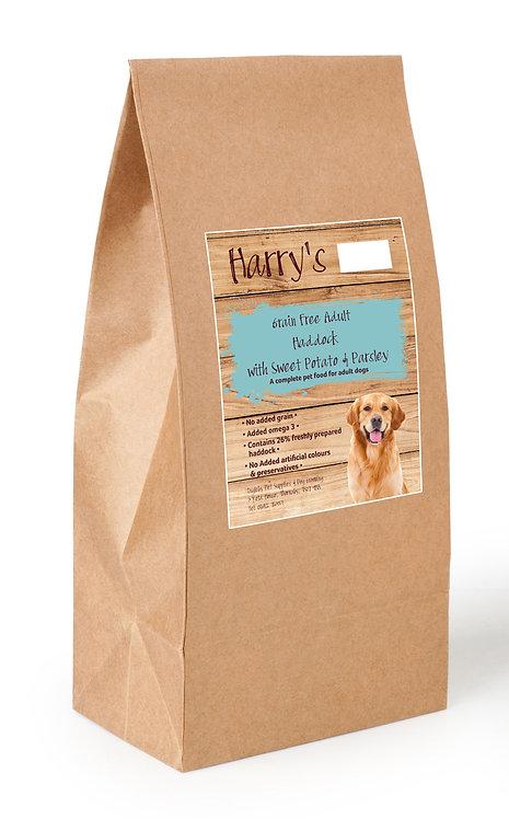 Harry's Grain Free Dog Food Haddock with Sweet Potato & Parsley  2kg